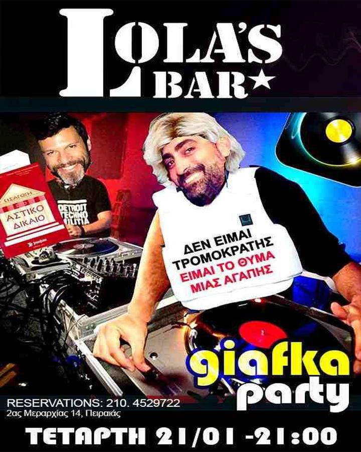 Giafka Party στο Lola's Bar