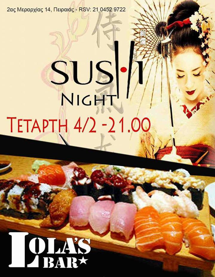Sushi Night στο Lola's Bar
