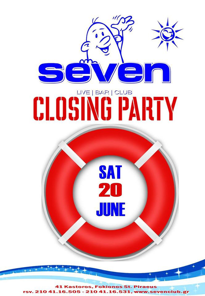 CLOSING PARTY @ SEVEN CLUB