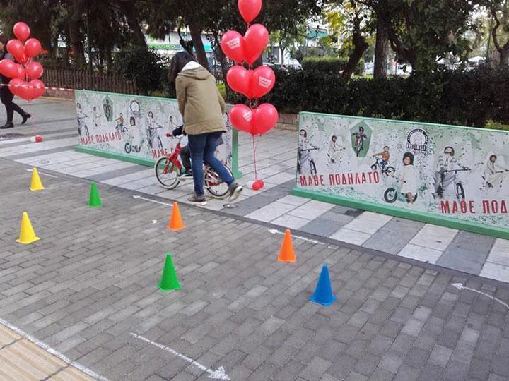 Μαθήματα ποδηλάτου για παιδιά στην πλατεία Αλεξάνδρας