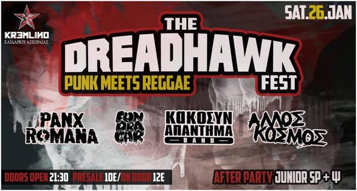 The DreadHawk Fest – Punk meets Reggae @ Kremlino