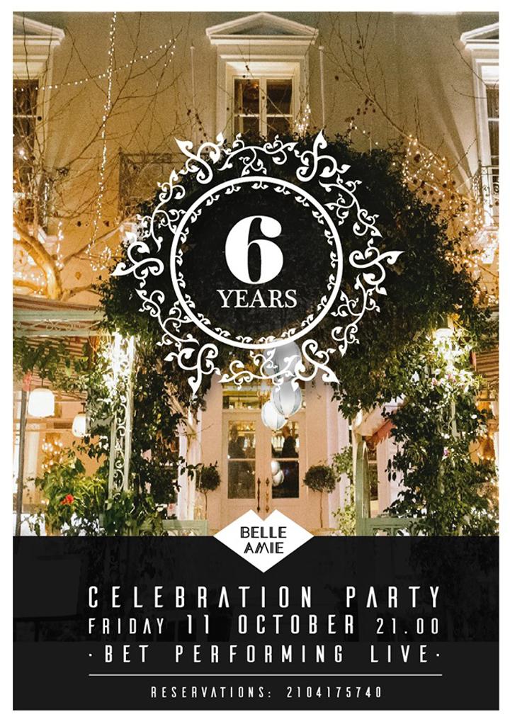 Το Belle Amie γιορτάζει τα 6 χρόνια του !!!