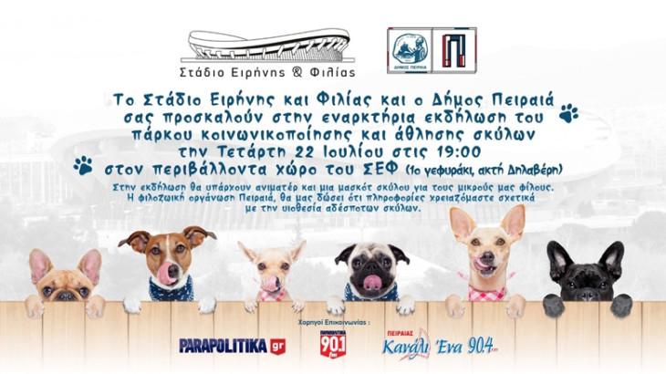 Πάρκο κοινωνικοποίησης και άθλησης σκύλων στο Σ.Ε.Φ.