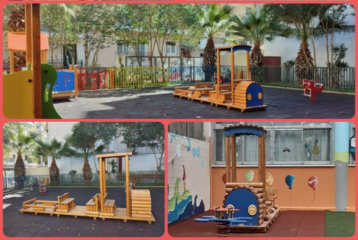 Παιχνίδια  στους αύλειους χώρους νηπιαγωγείων της πόλης από τον Δήμο Πειραιά